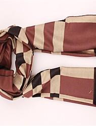 Women's Brown British Classic Grid Cashmere Scarf