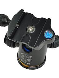 qzsd q-02 de alumínio cabeça de bola tripé ballhead com placa de liberação rápida pro tripé de câmera