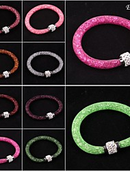 Stardust Rhinestone Crystal Beads Net Mesh Magnetic Snap Bracelet Bangle Hot