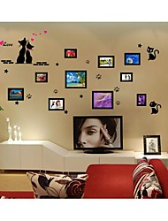 Wall Stickers Wall Decals, Style Love Cat Pictures PVC Wall Stickers