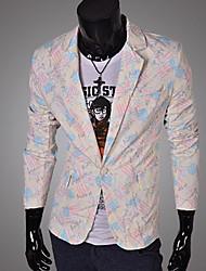 SPORTSTREET Men's Fashion Letter Pattern Sheath Blazer
