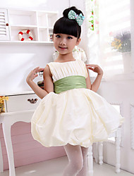 Ball Gown Knee-length Flower Girl Dress - Cotton Sleeveless