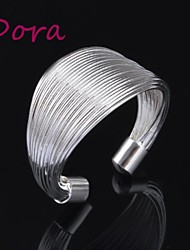 Dora® Women'S Fashion Silver Ring Opening Coil