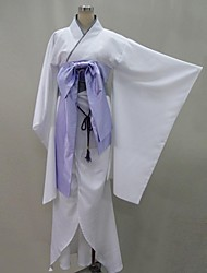 Inspired by Vampire Knight Hiou Shizuka Anime Cosplay Costumes Cosplay Suits / Kimono Patchwork White Long Sleeve Yukata / Corset / Bow