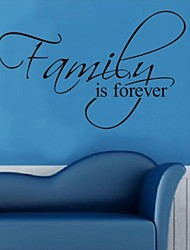 Wall Stickers Wall Decals, Family is Forever English Words & Quotes PVC Wall Stickers