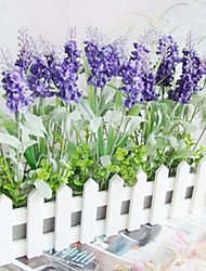 Plastique Lavande Fleurs artificielles