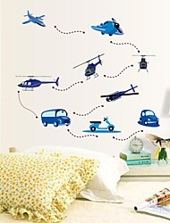 Wall Stickers Wall Decals, Cartoon Planes Flying PVC Wall Stickers