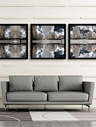 Landscape Framed Canvas / Framed Set Wall Art,PVC Black No Mat With Frame Wall Art