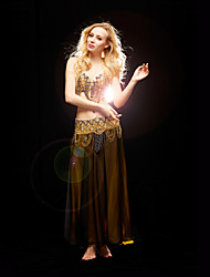 Belly Dance Women's Charming Training Beads Outfits Including Bra&Belt