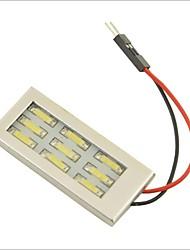 carking ™ T10 / feston 7014-9smd voiture conduit rome lampe lumière blanche (12v / pièce)