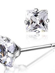 Stud Earrings Men's/Women's Silver Earring Crystal