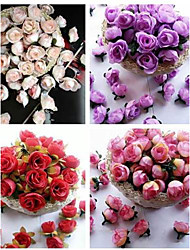 50PCS Artificial Camellia Rose Wedding Decorations Flowers Home Decor