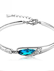 Oya Women's Silver-Plated All Matching Inlaid Zircon Leisure Bracelet