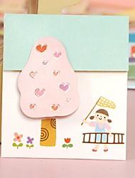 The Little Girl Three-Dimensional Mini General Card (6.0*7.0cm)