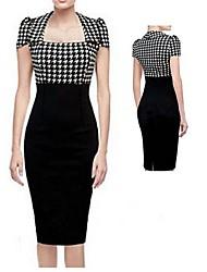 GZ&élégant contraste de couleur robe de i femmes