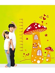 Wall Stickers Wall Decals, Style Cute Cartoon Mushrooms Measure Your Hight PVC Wall Stickers
