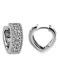 Stud Earrings Sterling Silver Simulated Diamond Gold Silver Jewelry 2pcs