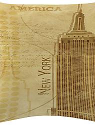 Нью-Йорк бархат декоративная подушка крышка