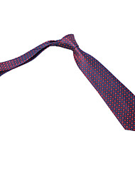 Burgundy&Navy Dots Tie
