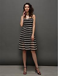 ts-Couture-Cocktailparty-Kleid - ein Online-Spaghetti-Trägern knielangen Spitze