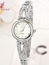 yaqin® mujeres de la marca de lujo de relojes de moda Lover mickey cuarzo de la venda de relojes (colores surtidos)
