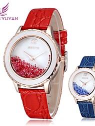 Skone cuarzo ®rhinestone relojes vestido de cuero moda casual nuevo reloj reloj de las mujeres del reloj de lujo (colores surtidos)