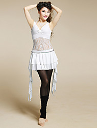 Belly Dance Women's Charming Practice Silk&Lace Outfits Including Tops&Skirts (More Color)
