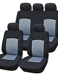 9 Pieces/Set Car Seat Covers Universal Fit Material Gray Jacquard Material with 3mm Composite Sponge Auto Accessories