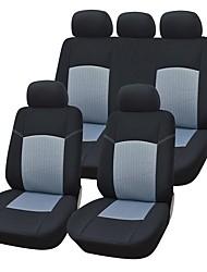 9 Stück / Set Autositzbezüge universelle Passform Material grauem Jacquard Material mit 3mm Verbund Schwamm Autozubehör