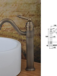 Antique Brass Finish  Single Hole Single Handle Bathroom Basin  Faucet(Tall)