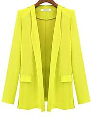 moda solta outerwear terno magro das mulheres