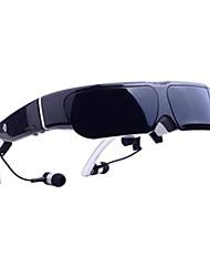 glowor android 4.4 de vídeo inteligente gafas anteojos 98inch 3d hmd con construir-en wifi y 8GB de memoria estilo google