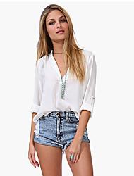 blusas de manga larga vaina de Monika mujeres