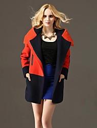 hoodies de correspondência de cores das mulheres outerwear