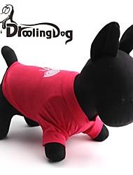 Katzen / Hunde T-shirt Rose Hundekleidung Frühling/Herbst Karton