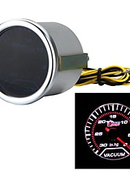 "Car Motor Universal Smoke Len 2"" 52mm 30-0 IN/HG Indicator Vacuum Gauge White LED Light"