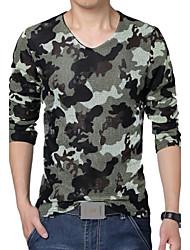 moda t-shirt de malha respirável homens