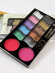 12 Eyeshadow Palette Matte / Shimmer Eyeshadow palette Powder Normal