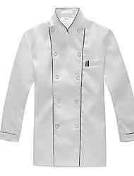 cruzado impermeable cocinero uniforme blanco
