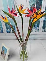 """pássaro amarelo artificial vermelho de Paradise 4 peças / lote 23.62 """"radical para o casamento e decoração de casa"""