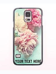 personalisierte Telefon-Fall - schöne Pfingstrose Design-Metall-Fall für Samsung-Galaxie s5 Mini
