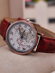 Women's Watch Vintage Roman Map Quartz PU Band(Assorted Colors) Cool Watches Unique Watches Fashion Watch