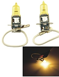 Carking™ KOBO H3 12V 100W 3000K 550LM Yellow Light Car Halogen Headlight(2 CPS)