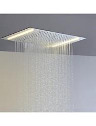 acier inoxydable 304 110v ~ 220v courant alternatif pomme de douche salle de précipitations avec des économies d'énergie lampes led