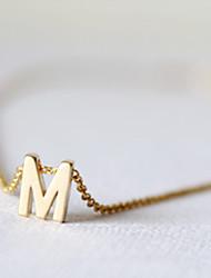 shixin® cadeia clássico com pulseira de ouro charme liga Inglês alfabeto 23cm das mulheres