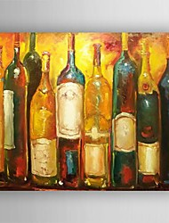 Oil Painting Still Life  Asbtract Wine Bottle  Painting Hand Painted Canvas with Stretched Framed