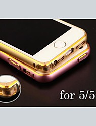 Personalized Engraved Exquisite Gold-Laced Metal Bumper Frame Shell for iPhone 5/5s (Gold,Silver, Black, Pink)