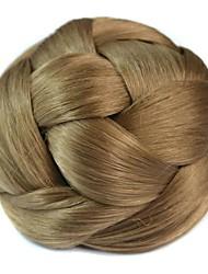 peruca do vintage bobina bun chignon (bege claro)