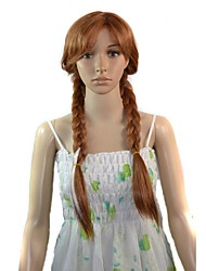 Cartoon Long Anna Princess Cosplay Synthetic Wig