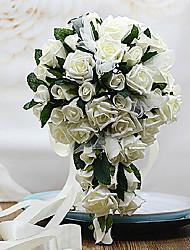 Rose With Dewdrop Wedding Bouquet